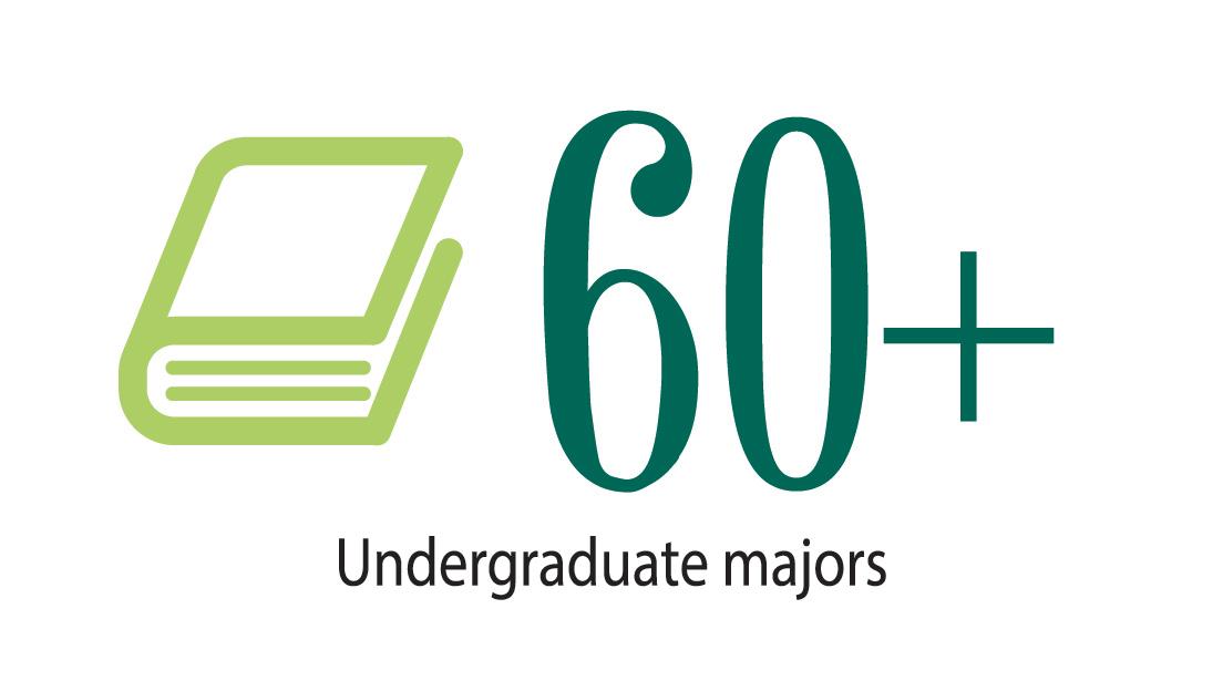 60 undergraduate majors