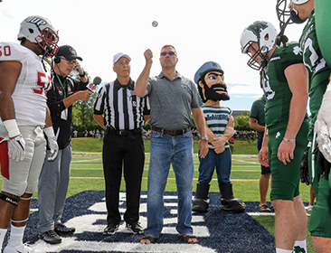 homecoming game coin toss