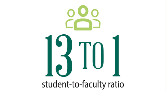 13-to-1 faculty ratio