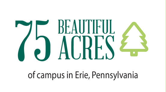 75 acre campus in Erie, PA